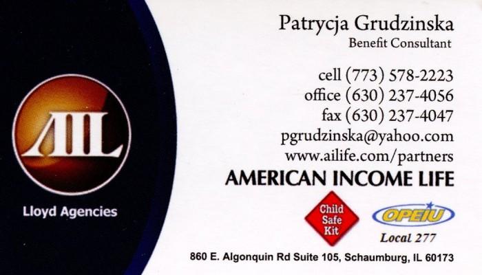 American Income Life Patrycja Grudzinska