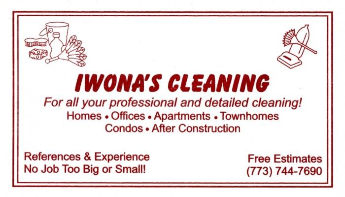 Iwona's Cleaning