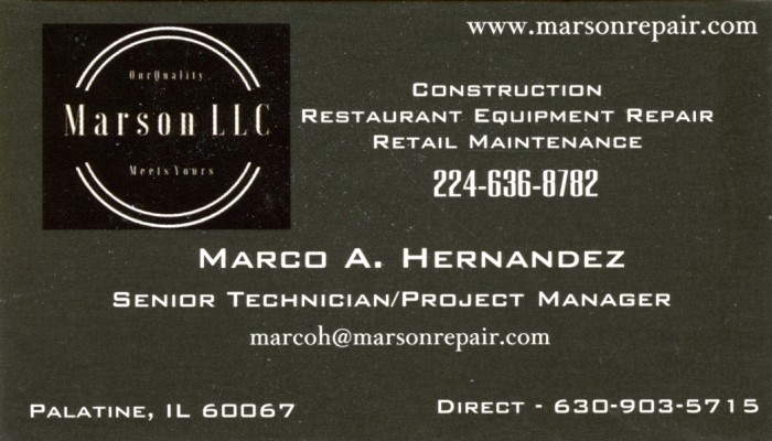 Marson LLC. - Marco A. Hernandes
