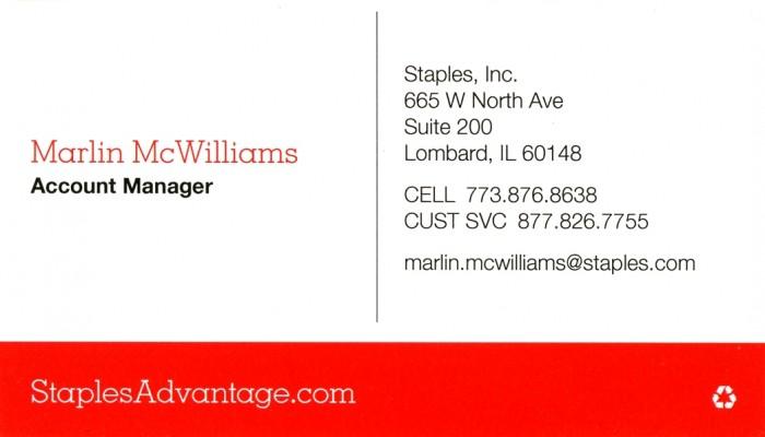 Staples Inc. - Marlin Mc Williams