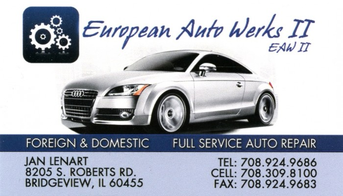 European Auto Werks II - Jan Lenart