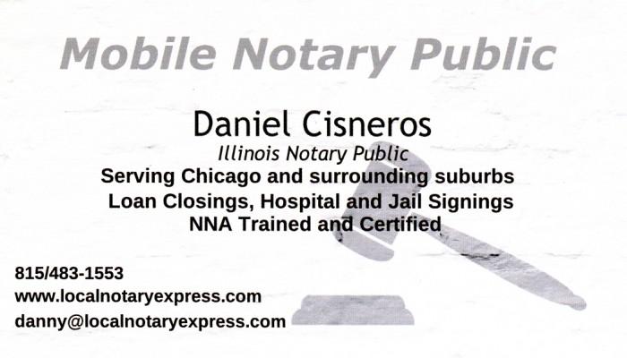 Mobile Notary Public - Daniel Cisneros - TerminalGR